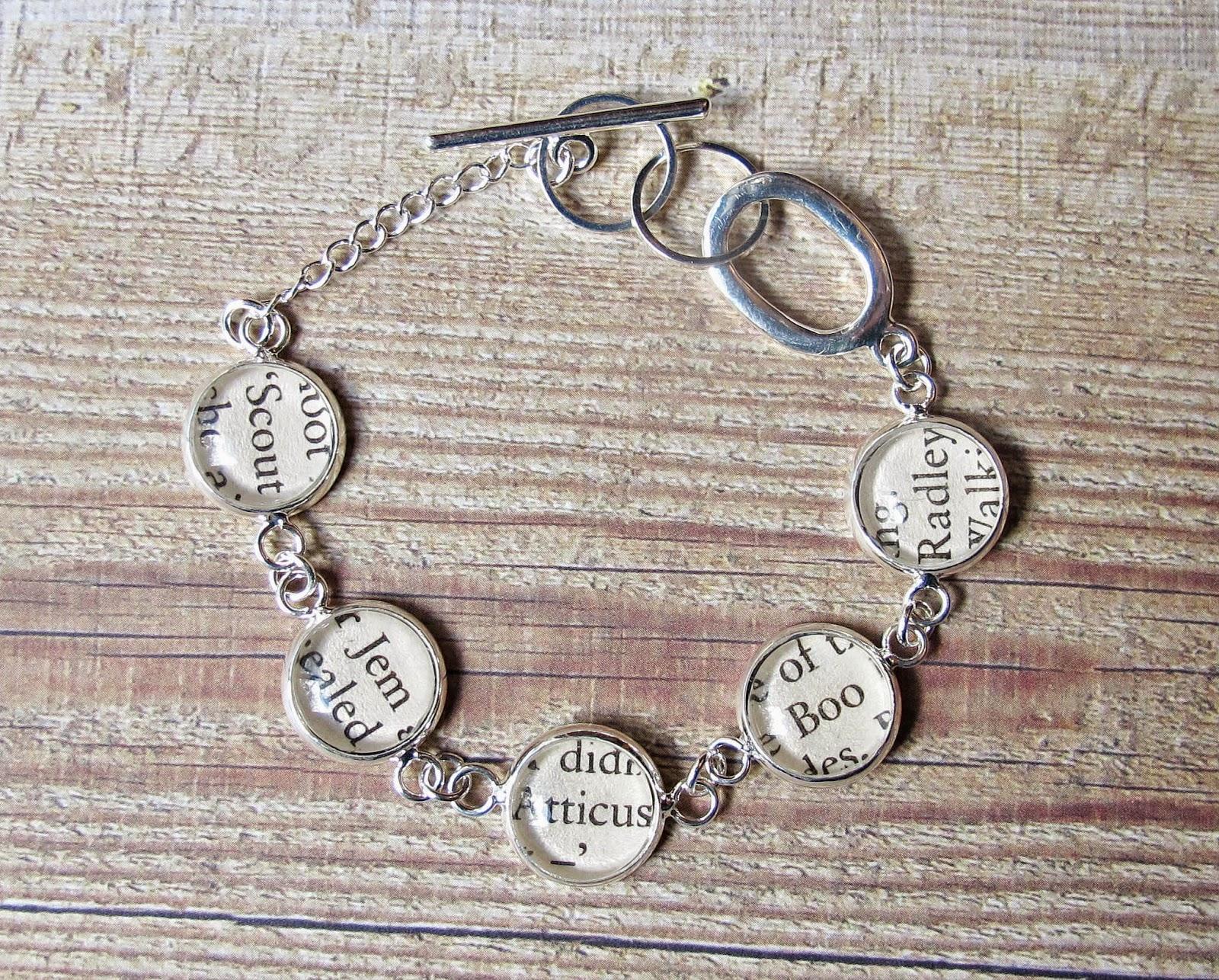 image two cheeky monkeys bracelet literature jewellery jewelry to kill a mockingbird atticus finch boo radley harper lee
