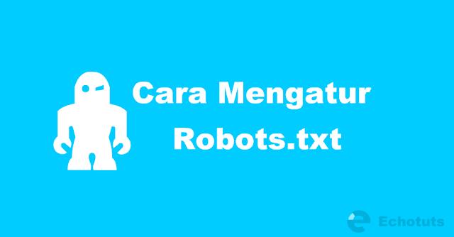 Cara Mengatur Robots.txt Blogger dengan Benar dan SEO - echotuts