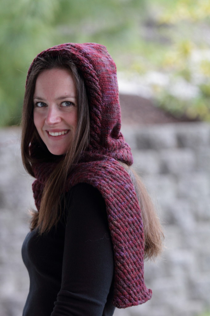 Easy Hooded Scarf Knitting Pattern : Knitting With Sandra Singh: Holiday Blog Giveaway: 4 Kits