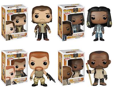 "The Walking Dead Pop! Television Series 6 by Funko - ""Season 5"" Rick Grimes, ""Season 5"" Michonne, Abraham & Morgan"