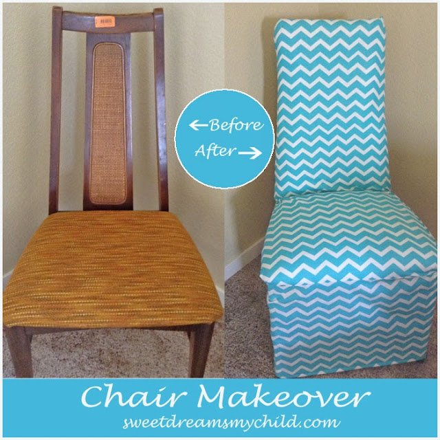 DIY Chevron Chair Makeover