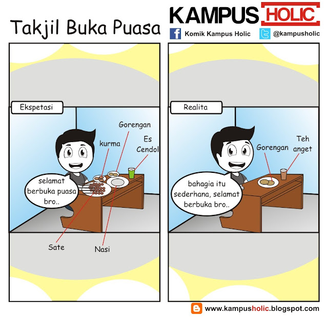#207 Takjil Buka Puasa komik kampus holic