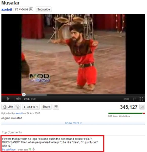 funny youtube comments, hilarious comment on youtube, funny, funny pictures, fail, youtube comments