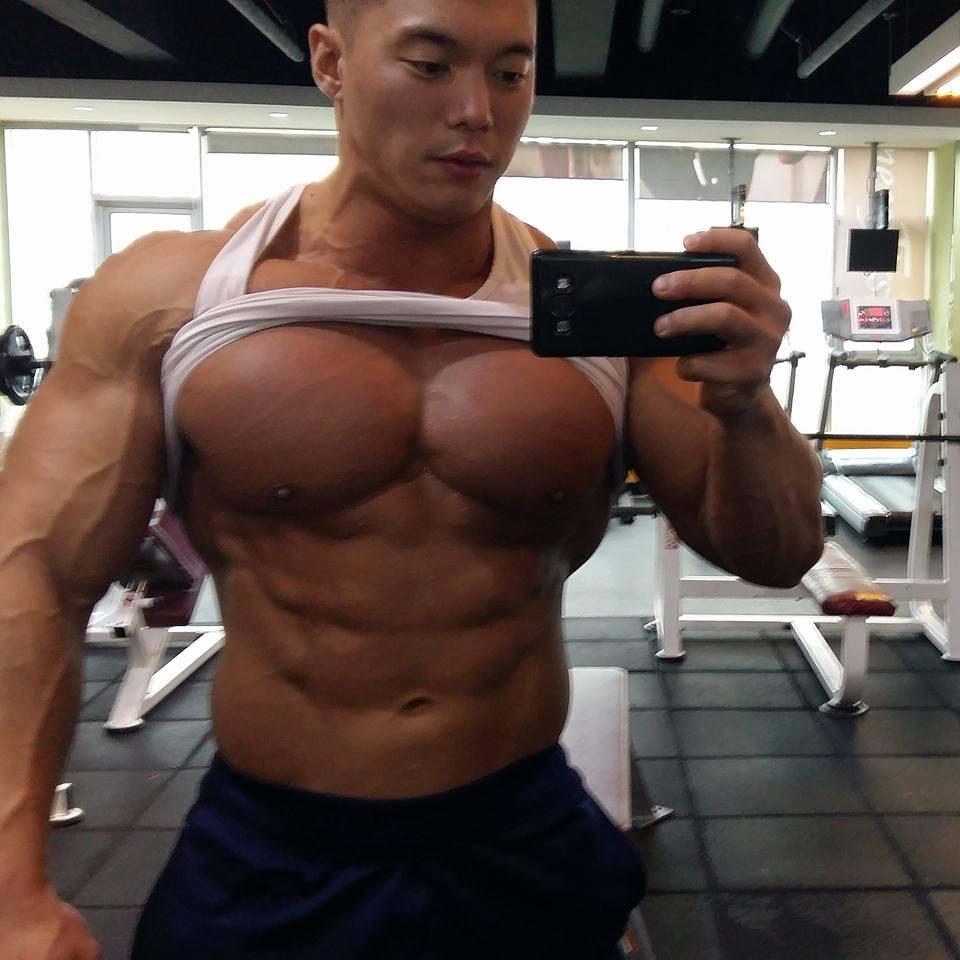 Asian muscle fans young joon kim