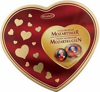 австрийское шоколадное сердце Mozarttaler