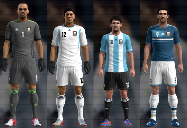 PES 2013 Argentina 12 13 Kit Set by Santy Argentina
