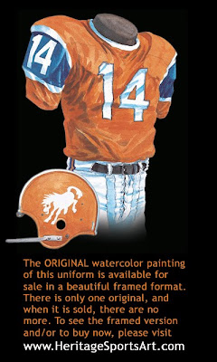 Denver Broncos 1965 uniform