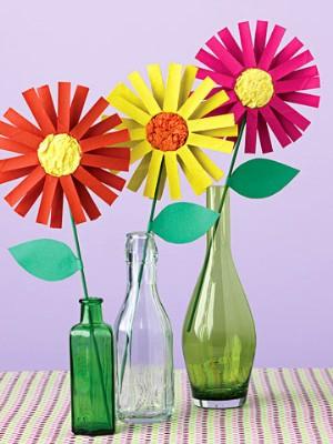 Okul ncesi sanat etkinlikleri rulodan i ek rne i for Cardboard tube flowers