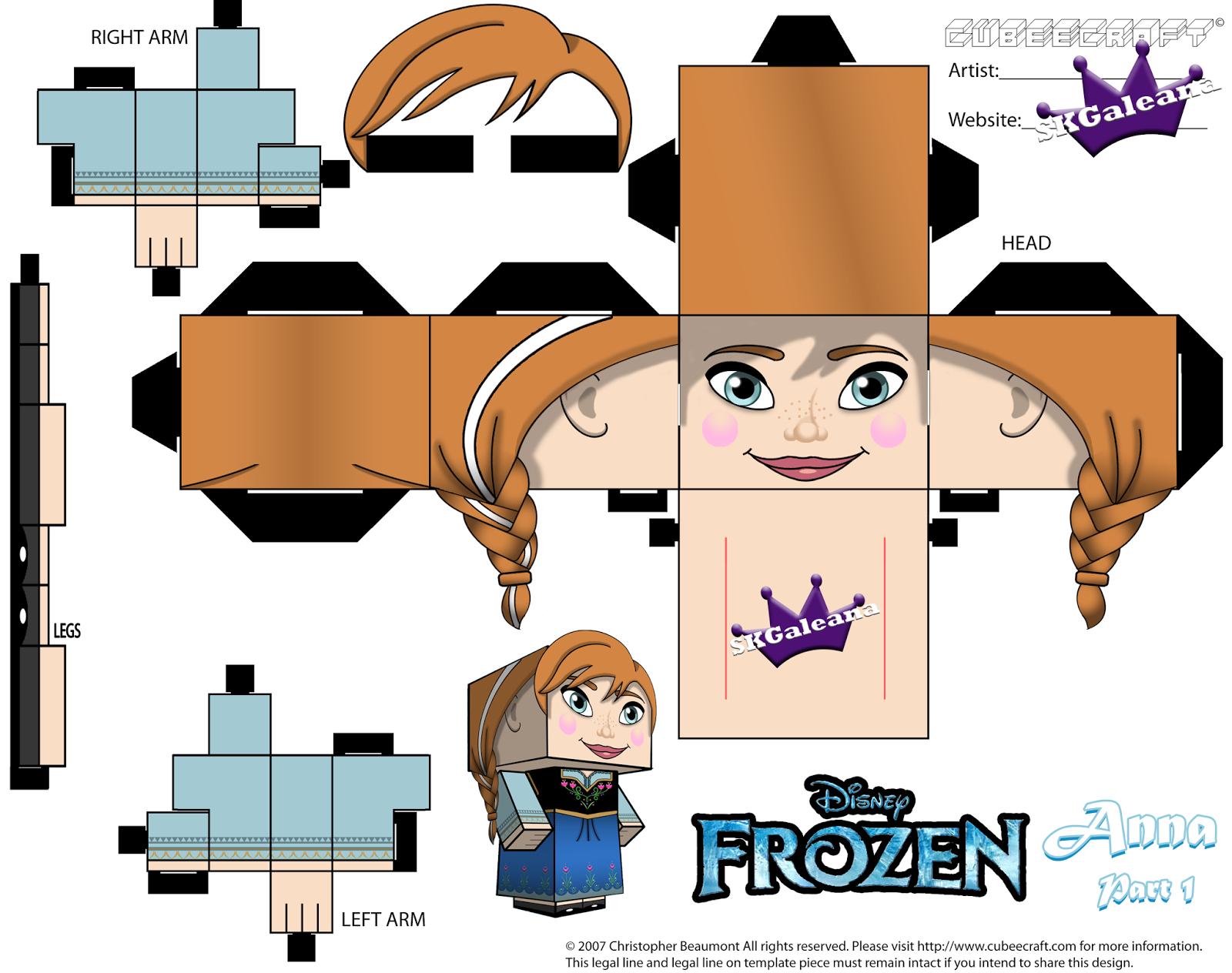 Bonecas Anna Elsa E Olaf Do Filme Frozen Para Imprimir Montar