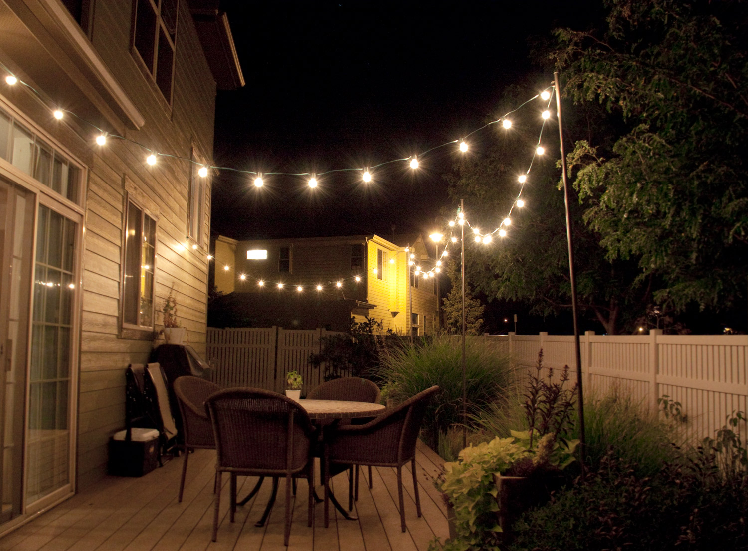 17 outdoor lighting ideas for the garden scattered thoughts of a crafty mom backyard lighting ideas