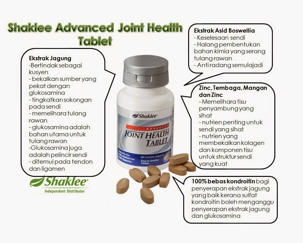 ADVANCED JOINT HEALTH TABLET membantu mengatasi sakit sendi