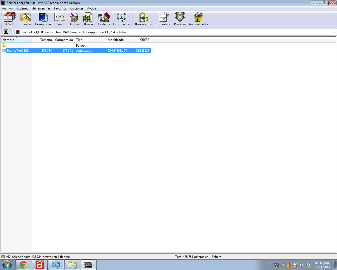 unzip the downloaded program
