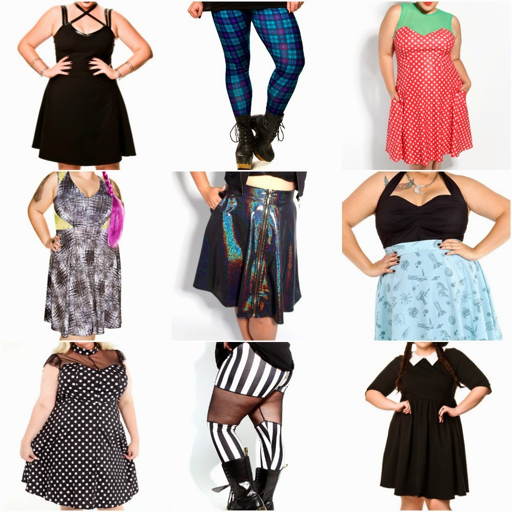 wishlist, domino dollhouse, pagan poetry collection, fatshion, fashion, fat fashion, plus size clothing, plus size dresses, plus size leggings, plus size skirt, plus size top