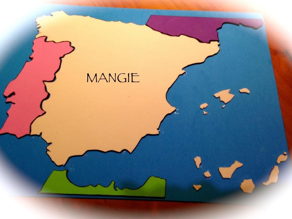Mapa España en goma eva