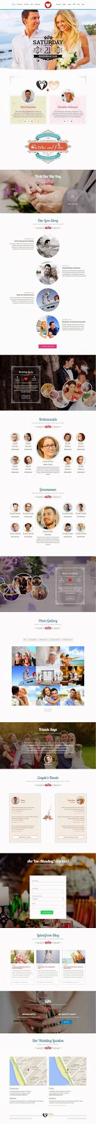 Responsive Wedding Website Themes 2015