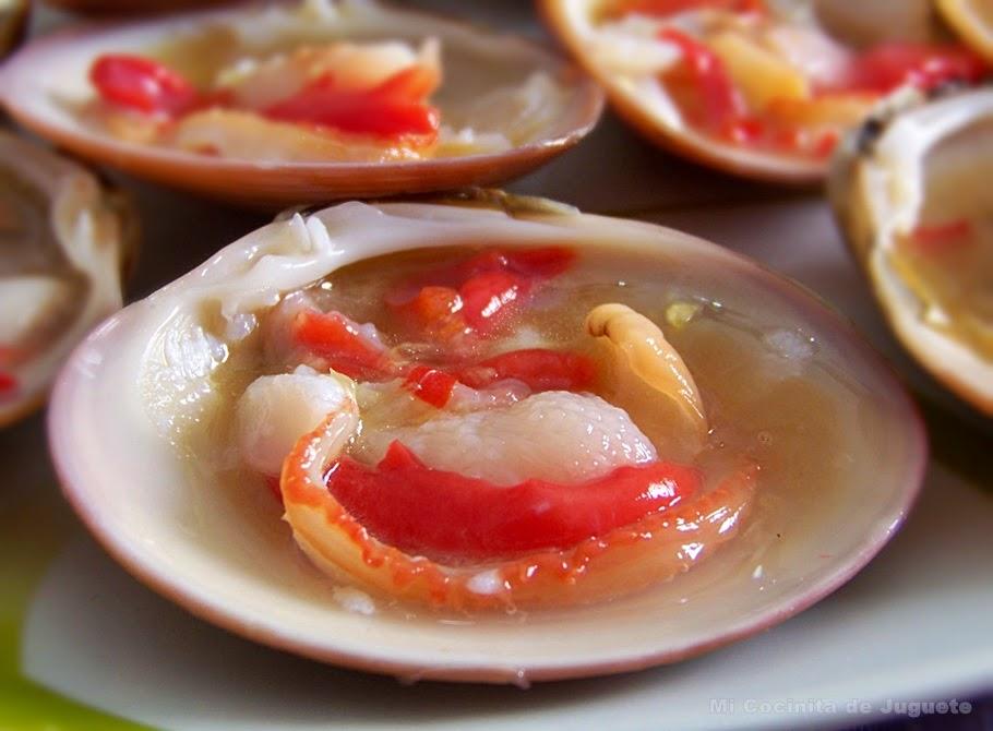 Conchas Finas con Aliño Tailandés