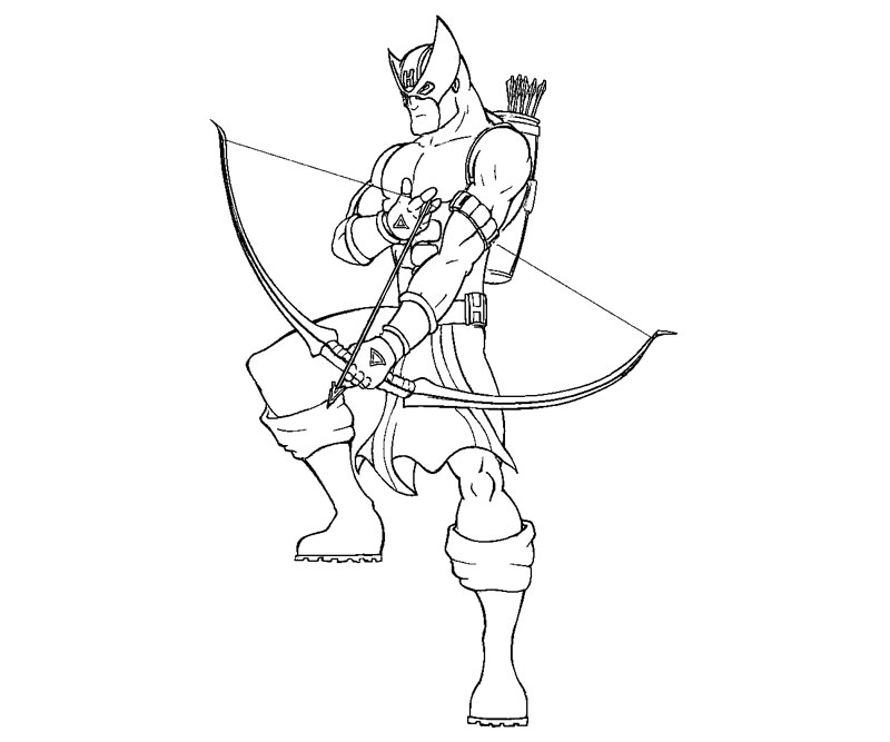 Random hawkeye coloring pages for Marvel hawkeye coloring pages