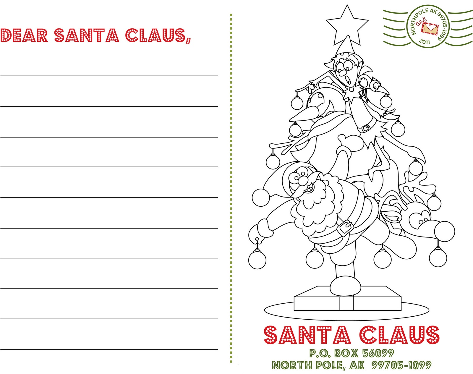 Letters To Santa Template | New Calendar Template Site
