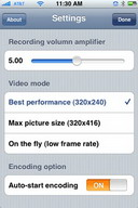 iPhone Video Recorder to record videos