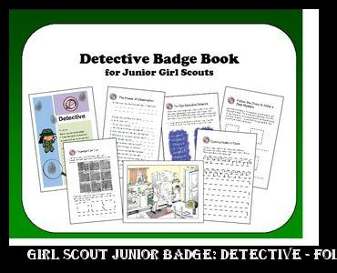c880fc63fd1d ... trainers online usa Girl Scout Junior Badge  Detective - Foldable  Activity Book