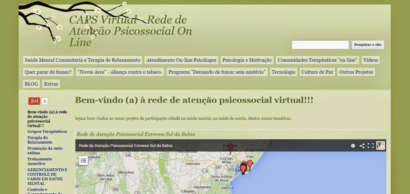Site Rede Atenção Psicossocial Virtual