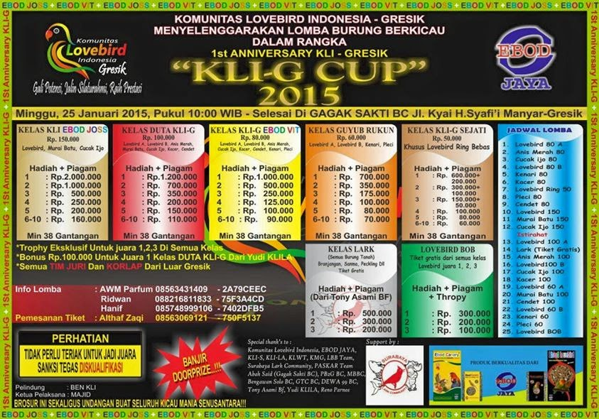 1 st Anniversary KLI-G CUP 2015