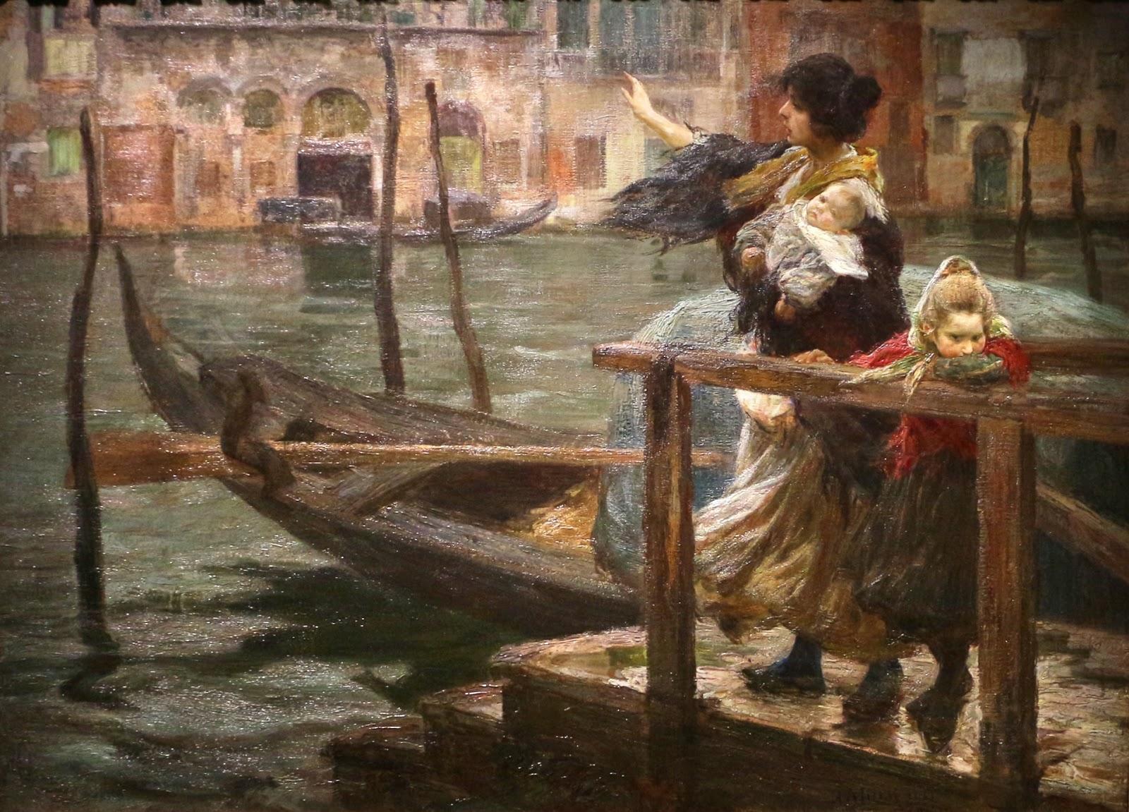 Alessandro Milesi La traversata la partenza del marinaio