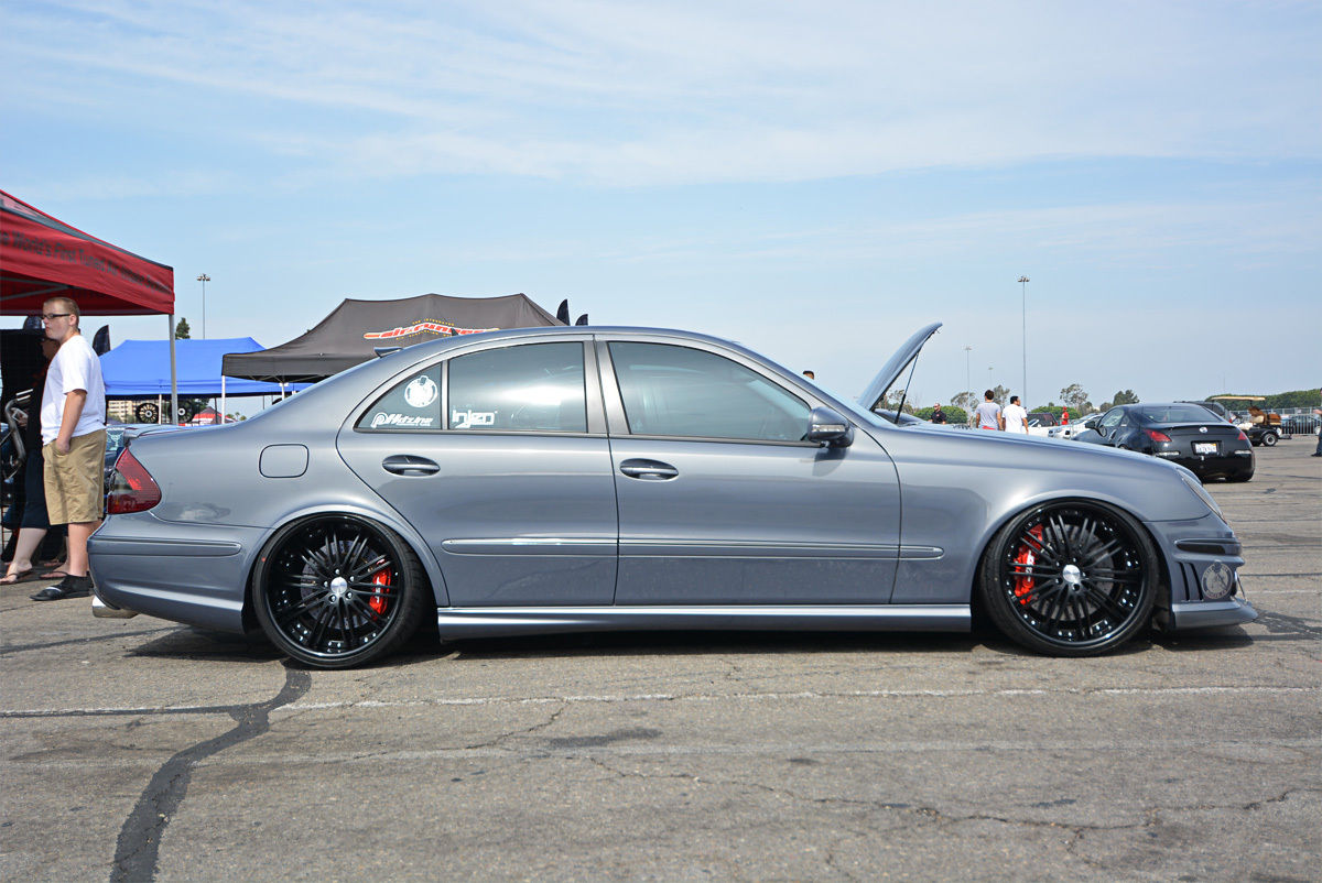 Mercedes Benz W211 E550 Stance on mercedes benz e350
