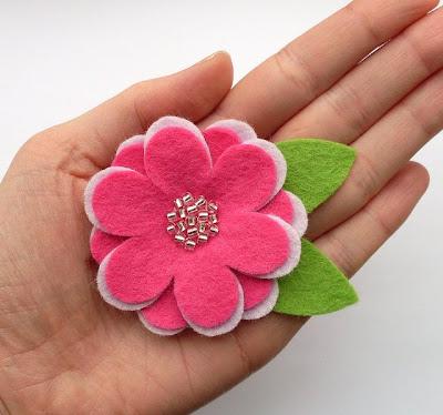 Мастер класс цветок из флиса