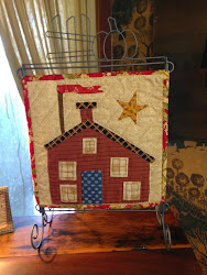 Jan's latest Tutorial - How to Applique a Schoolhouse