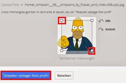 tetapkan sebagai foto profil gambar email yang anda pilih