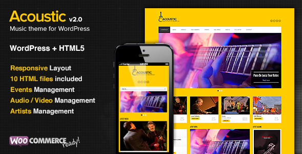 Acoustic - Themeforest Premium Music WordPress Theme