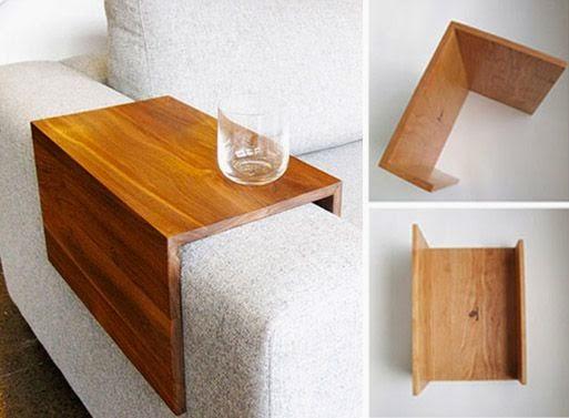 Mesa auxiliar que se adapta al brazo de tu sof ideas irresistibles - Mesita auxiliar sofa ...