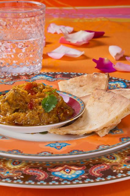 Caviar d'Aubergines façon Bollywood