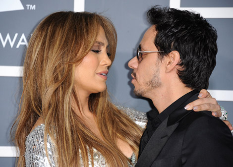 jennifer lopez 2011 grammy awards husband marc anthony