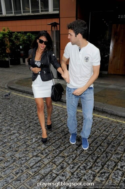 Cesc Fabregas and his Girlfriend Daniela Semaan