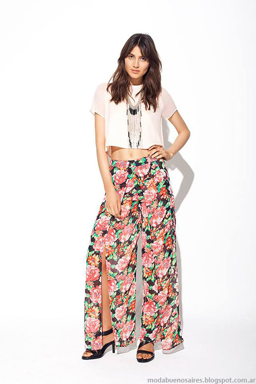 Palazzos verano 2015. Pantalones de moda verano 2015 MAB.