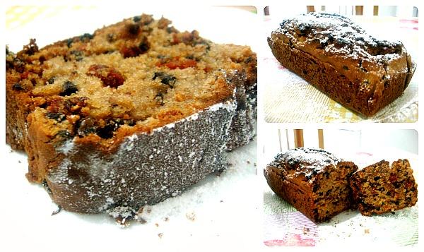 Plumcake con gocce di cioccolato e bacche di Goji