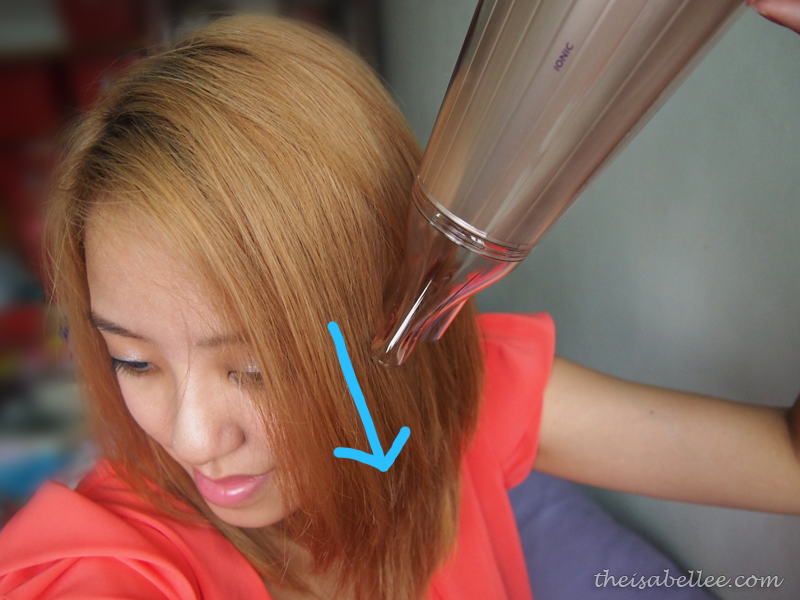 How to use hair dryer concentrator