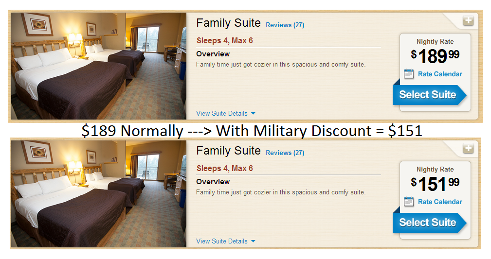 discounts deals 4 military great wolf lodge 20 military discount