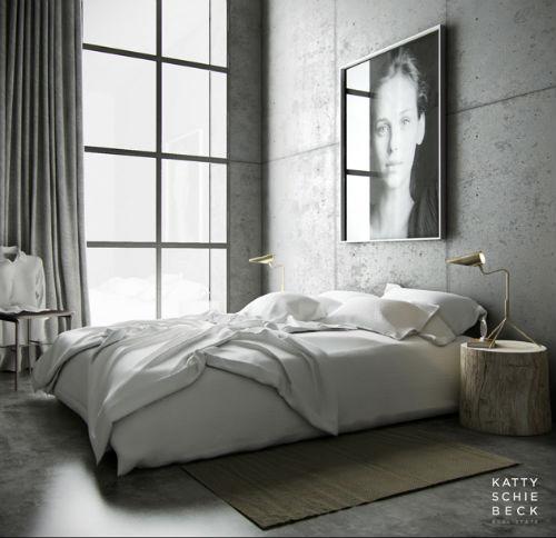 Schlafzimmer In Grau Gestaltet