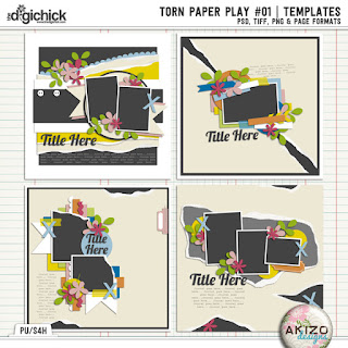 Torn Paper Play 01 by Akizo Designs