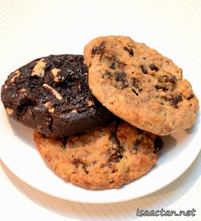 #5 Chunky Double Chocolate Cookie - RM4.50, Oatmeal Cinnamon Raisin Cookie - RM4.50