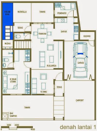 Desain Rumah Minimalis 1 Lantai Dengan 4 Kamar
