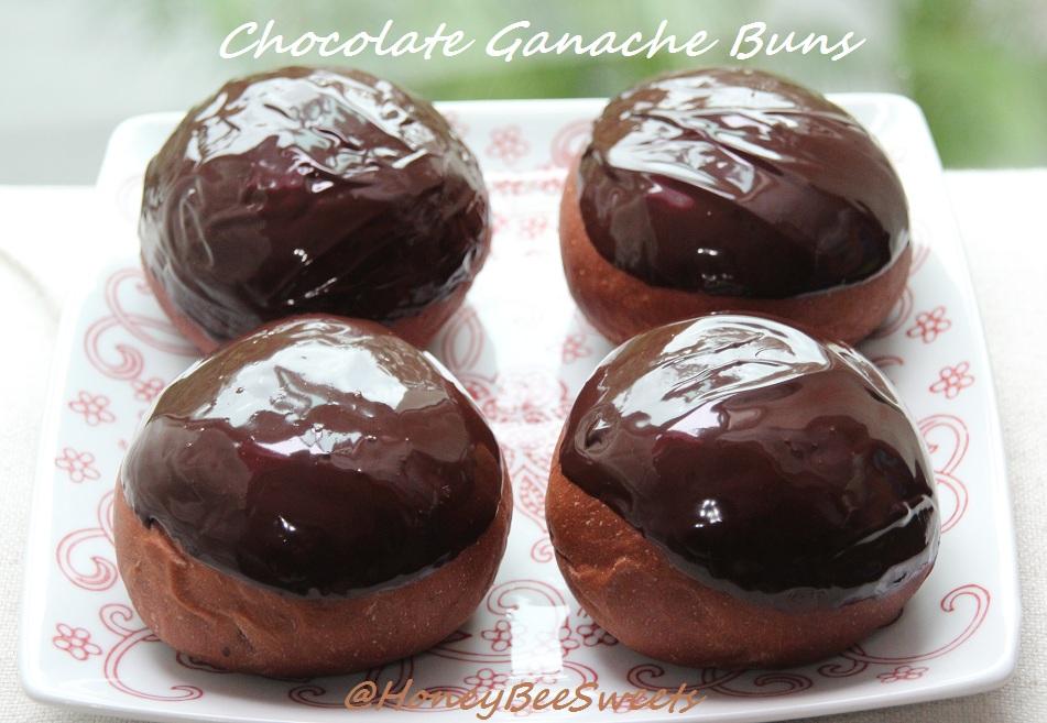 Chocolate Bread Loaf Chocolate Ganache Buns