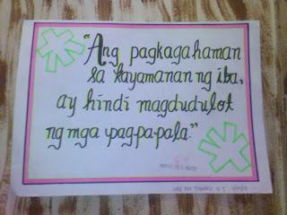 Slogan tungkol sa akdang ''Ibong Mandaragit'