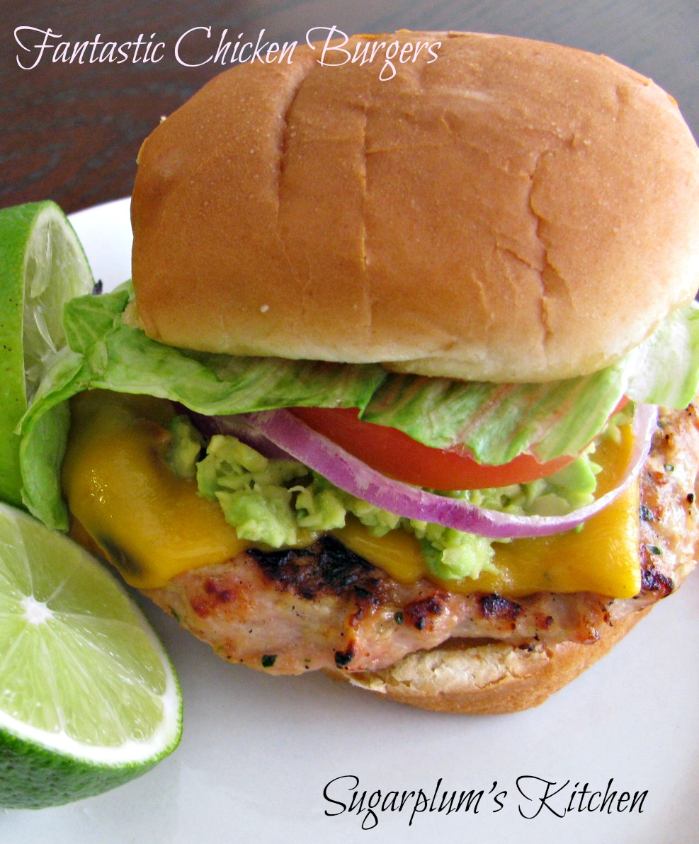 ... that i made recently that came out great the ground chicken burger had