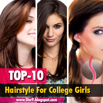 Top 10 Hairstyles for College Girls | Easy Hairstyles for School and College Girls