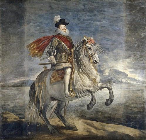 Retrato  a caballo de Felipe III del gran artista español Diego Velásquez