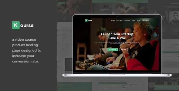Kourse - Video Course Landing Page WordPress Theme